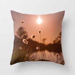 Sunset at Sandviksfjellet, Bergen, Norway Throw Pillow