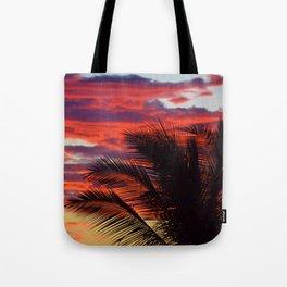 pomegranate sunset Tote Bag