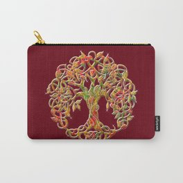 Tree of Life Maroon Carry-All Pouch