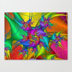 Explosion in a paint factory! Canvas Print