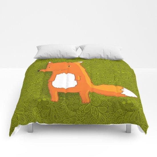 Cute cartoon fox Comforters