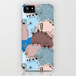 Four wheels blue #homedecor iPhone Case