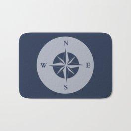 Nautical Compass Bath Mat