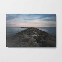 The Jetty at Sunset - Landscape Metal Print