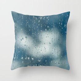 A rainy day Throw Pillow