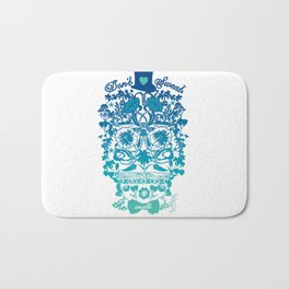 Art Deco Skull Bath Mat