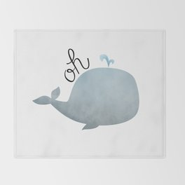 Oh Whale Throw Blanket