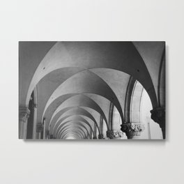 Arched Ceiling, Doge's Palace, Venice Metal Print
