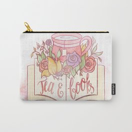 TEA & BOOKS Carry-All Pouch