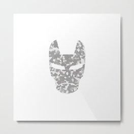 Camouflage mask Metal Print