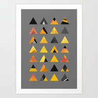 triangles Art Prints featuring Triangles by Elisabeth Fredriksson