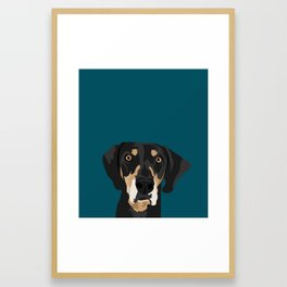 Huck Framed Art Print