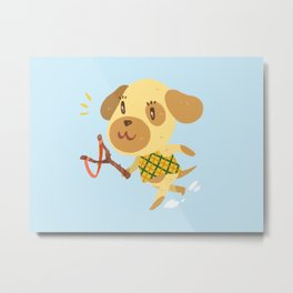 Animal Crossing Goldie Metal Print
