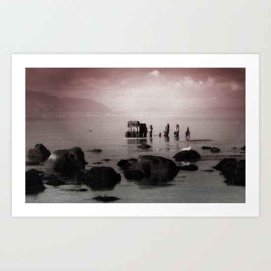 The Old Wreck Art Print