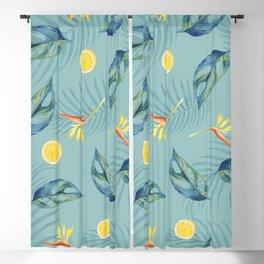 Tropical Citrus Fruit Pattern Blackout Curtain