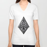 arrow V-neck T-shirts featuring Arrow^ by Shivani C