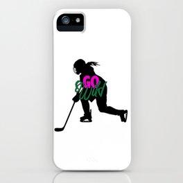 Go Wild Womens Hockey iPhone Case