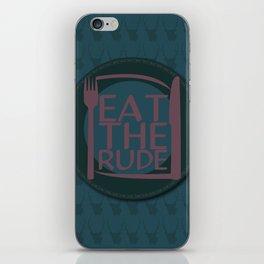 Eat The Rude (Navy) iPhone Skin