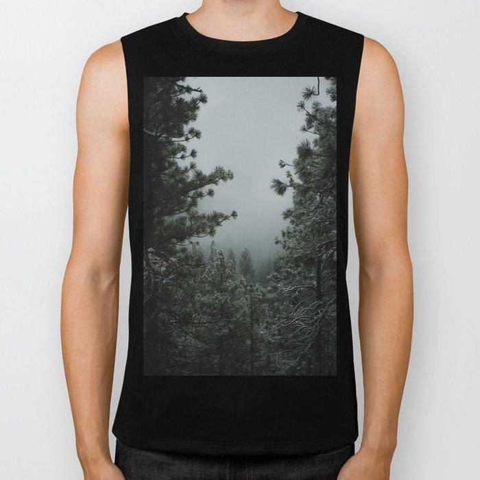 Backwoods Winter: Ponderosa Pines, Washington Biker Tank