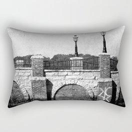 Grunge Bridge Rectangular Pillow
