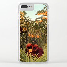 "Henri Rousseau ""Apes in the Orange Grovee"", 1910 Clear iPhone Case"