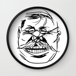 Face President Theodore Roosevelt Wall Clock
