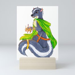 Fire Skunk Mini Art Print