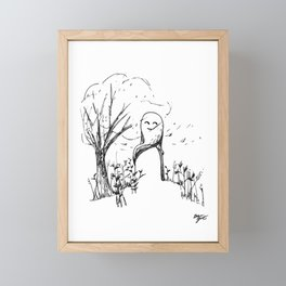 A Windy Day Framed Mini Art Print