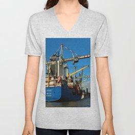Container Ship Unisex V-Neck