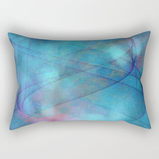 Blue tornado with fairy lights Rectangular Pillow