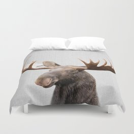 Moose - Colorful Duvet Cover