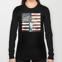 Vintage Patriotic American Liberty Long Sleeve T-shirt
