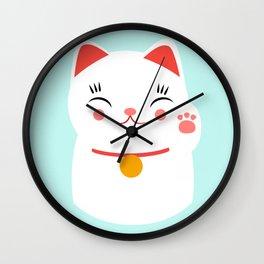 Lucky happy Japanese cat Wall Clock