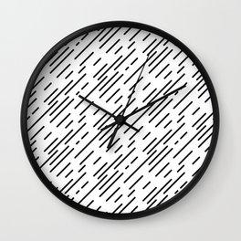 Diagonal Light Rain Wall Clock