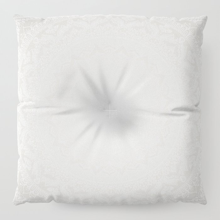Mandala Soft Gray Floor Pillow