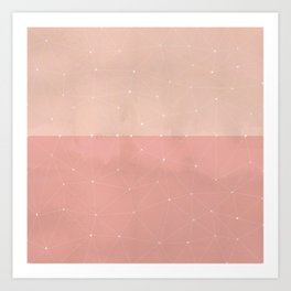 Plotting the dots in pink Art Print