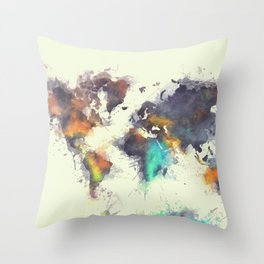 world map 106 #worldmap #map Throw Pillow
