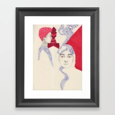 The Domino Effect Framed Art Print