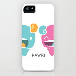 Twin Monsters iPhone Case