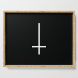 Flipped over cross Serving Tray
