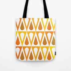 Orange curved triangle pattern Tote Bag