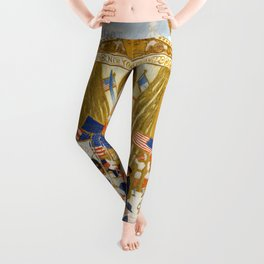 "Florine Stettheimer ""The Cathedrals of Wall Street"" Leggings"