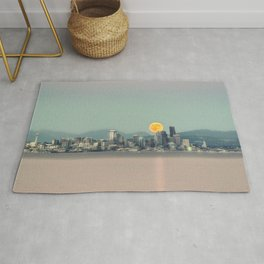 Blood Moon Over Seattle Rug