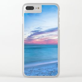 If By Sea - Sunset and Emerald Waters Near Destin Florida Clear iPhone Case