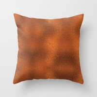 gold foil Throw Pillows featuring Gold Foil Texture 4 by Robin Curtiss