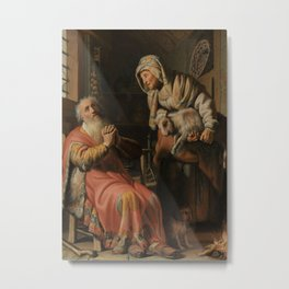 Tobit and Anna with the Kid Goat Metal Print