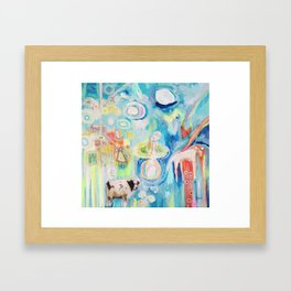 letting yourself go. or letting go Framed Art Print