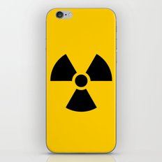 Radioactive signal, danger signal for warning iPhone & iPod Skin