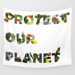Protect Our Planet Wall Tapestry