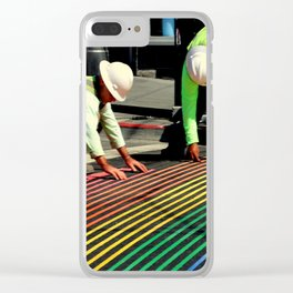 Laying It On The Line Clear iPhone Case